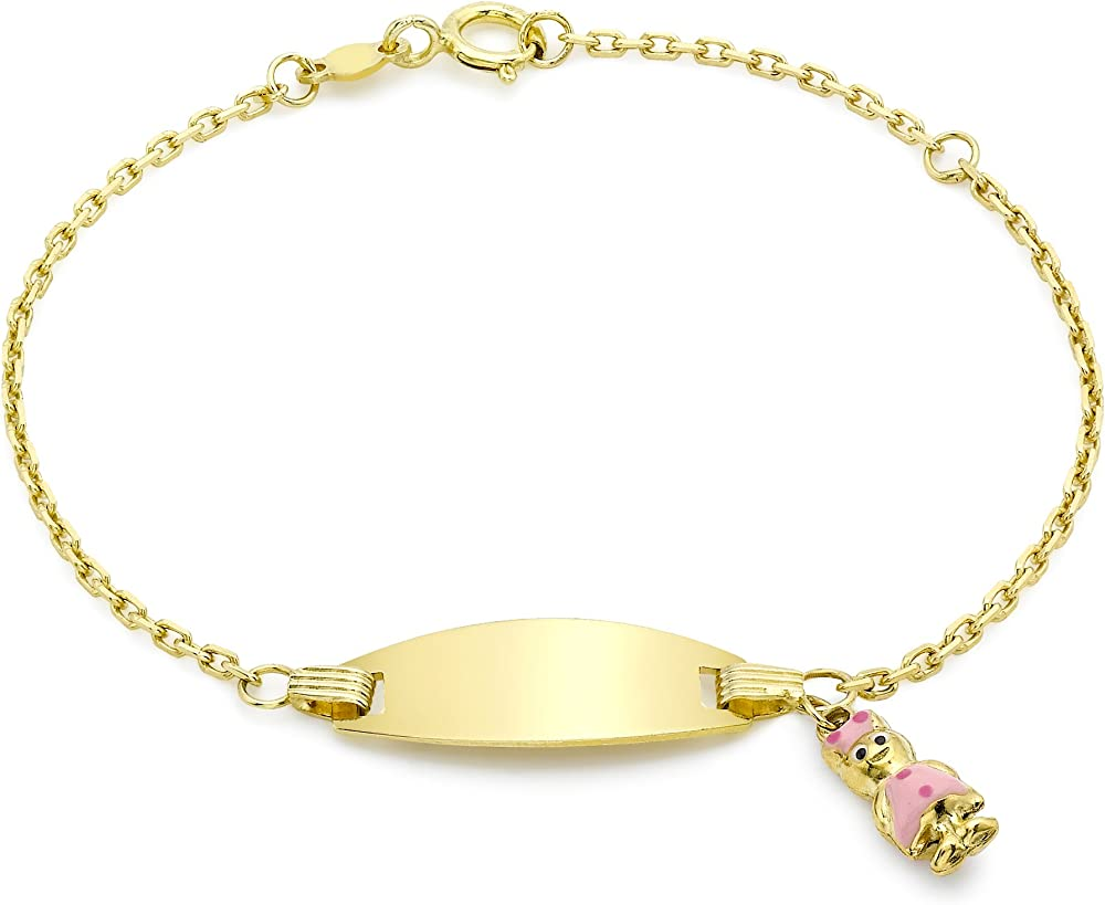 Carissima gold bracciale per bambini in oro giallo 9k (375)(1,5gr) 1.29.1150