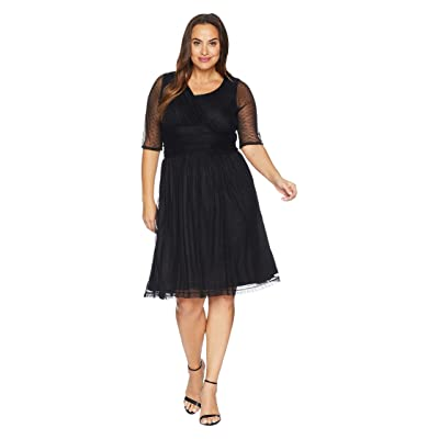 Kiyonna Emilia Mesh Dress (Onyx) Women