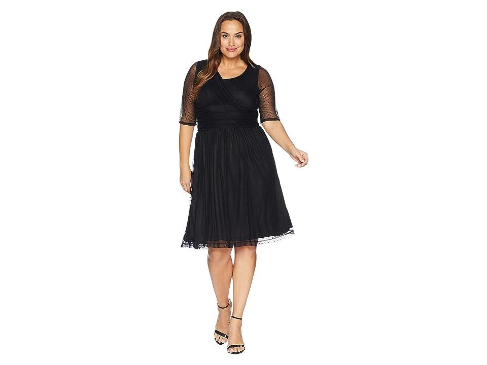 Kiyonna Emilia Mesh Dress (Onyx) Women