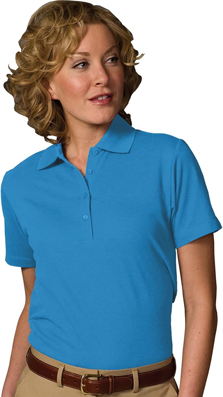 Edwards Garment Women's Soft Touch Blended Polo, XXX-Large, Marina Blue