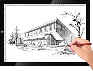 Neewer A3 Ultra-Thin Portable LED Light Box Tracer Dimmable Brightness with Scale Artcraft Tracing Light Pad with USB Power Cable for Artists Drawing Sketching Animation Stencilling X-ray Viewing