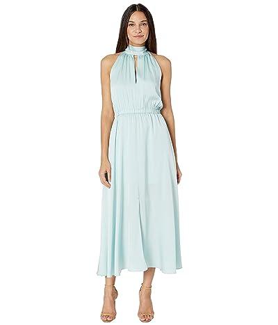 Milly Stretch Silk Ari Dress (Sea Green) Women