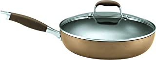 Anolon 82246 Advanced Deep Hard Anodized Nonstick Frying Pan / Fry Pan / Hard Anodized Skillet with Lid - 12 Inch, Brown