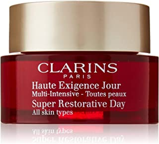Clarins Super Restorative Day Cream | Nourishing Anti-Aging Moisturizer for All Skin Types | Replenishes, Illuminates, and Densifies | Minimizes Age Spots and Deep Wrinkles | 1.7 oz