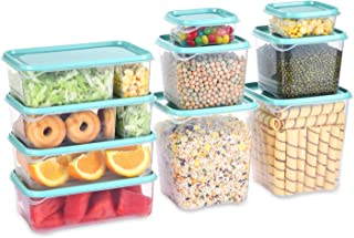 Fresh Friend 10 Pack Food Storage Containers with Lids Airtight, Plastic Lunch Containers BPA Free, Stackable Kitchen Free...
