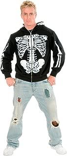 Charades Men's Skeleton Hoodie Costume Sweatshirt