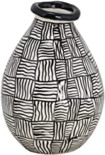 TIC Collection Accra Vase, White/Black