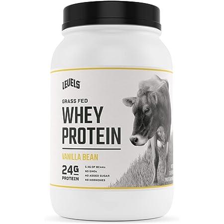 Levels Grass Fed 100% Whey Protein, No GMOs, Vanilla Bean, 2LB