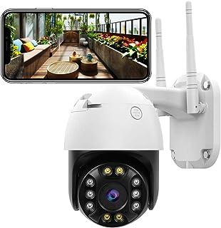Cámara de Vigilancia WiFi Exteriores - Cámara de Seguridad FHD 1080P Inalámbrica Audio bidireccional IP66 a Prueba de Agua visión Nocturna detección de Movimiento