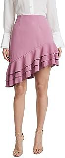 C/Meo Collective womens TEMPTATION ASYMMETRICAL RUFFLE SHORT MINI SKIRT Skirt
