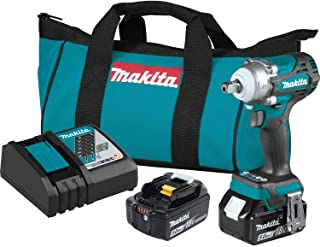 """Makita XWT15T 18V LXT Lithium-Ion Brushless Cordless 4-Speed 1/2"""" Sq. Drive Impact Wrench Kit w/Detent Anvil (5.0Ah)"""