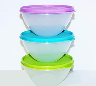 New Tupperware Wonderlier Bowl Set 3 in New Colors (Small)