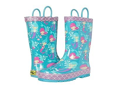 Western Chief Kids Merry Mermaids Rain Boots (Toddler/Little Kid/Big Kid) (Aqua) Girl