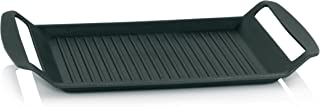 Platzspar-Tipp Kela 11564 Grillplatte für den Herd, Aluguss 5 mm, Induktionsgeeignet, 30 x 24 cm, Kerros