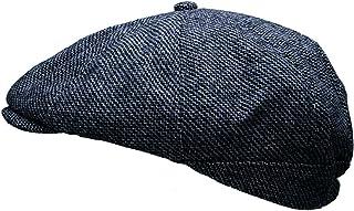 Heritage Traditions Men Wool Tweed Pane Peak Newsboy Cap Hat