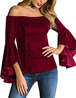 Best women's flared sleeve top Reviews