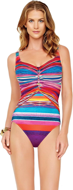 Gottex Women's Mai Tai One Piece Lingerie Strap Tank Swimsuit