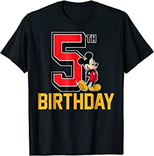 Mickey Mouse My 5th Birthday T-shirt
