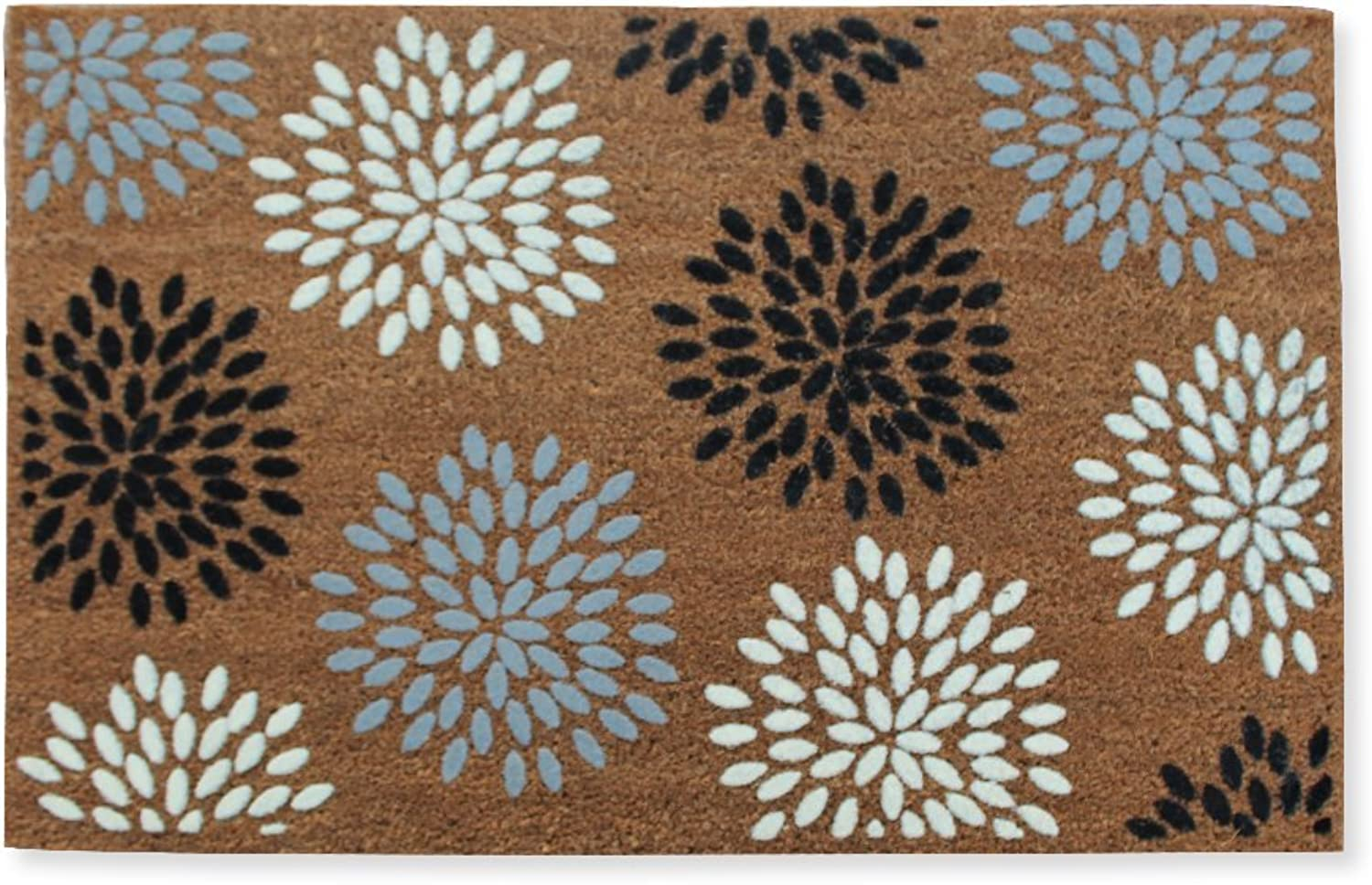 A1 HOME COLLECTIONS First Impression Entry Flocked Doormat, Vinson Coir, Large(24 x36 )(PTF2007)