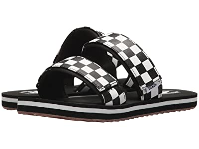 Vans Cayucas Slide ((Checkerboard) Black/Marshmallow) Women