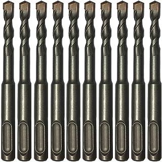"10PC 1/4"" X4"" Drill Bit Set SDS Plus Rotary Hammer Concrete Masonry Carbide Tip"