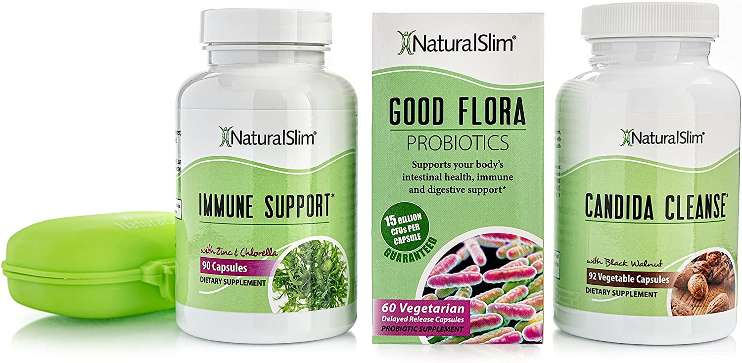 NaturalSlim Same day shipping Candiseptic Kit - Treatm Japan's largest assortment Candida Overgrowth Albicans