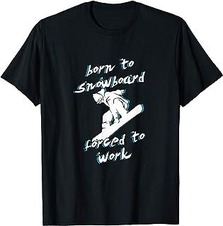 スノーボード 趣味 エクストリームスポーツ しごと 気の利いた 戯れる 堅い 嗅ぎ手 スノーサーフィ Tシャツ