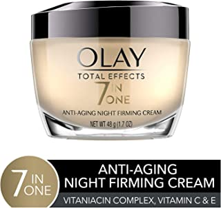 Night Cream by Olay Total Effects Anti-Aging Night Firming Cream & Face Moisturizer, 1.7 Fluid Ounce