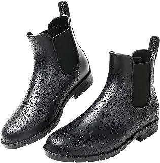 [kweco] レディースレインブーツファッションレイン ブーツ サイドゴア 雨靴防水 梅雨対策…