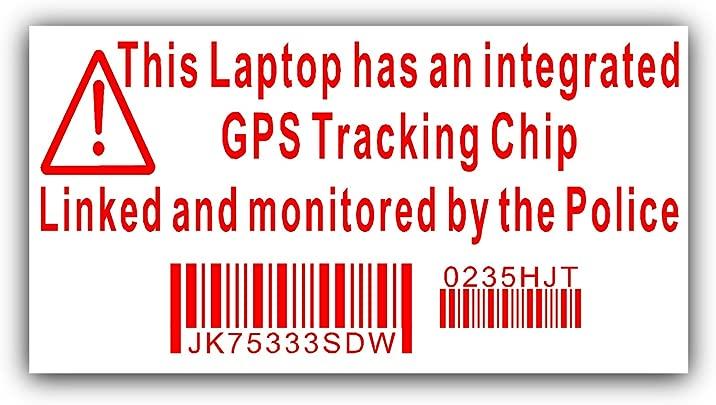 4 nbsp x Laptop Sicherheitsaufkleber gef lscht GPS-Tracking-Zeichen mit Polizei berwachung Dell HP Apple Mac Schätzpreis : 2,88 €