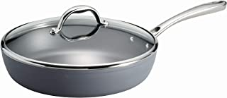 Tramontina 80110/097DS Induction Aluminum, Made in Italy, Slate Gray 4.5-Quart Covered Deep Saute Pan