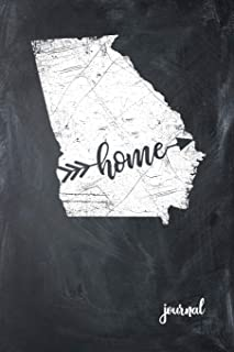Home Journal: State of Georgia Gypsy Arrow Home Blank Diary 120 Paged College Lined 6x9 Travel Journal