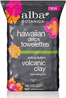 Alba Botanica Anti-Pollution Volcanic Clay Hawaiian Detox Towelettes, 30 Count