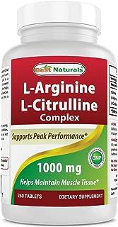 Best Naturals L-Arginine L-Citruline Complex Tablets, 250 Count