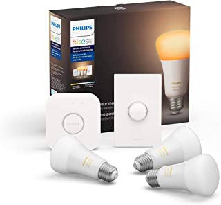 Philips Hue White Ambiance LED Smart Button Starter Kit,...