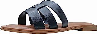 The Drop Women's Monika Flat H-Band Slide Sandal