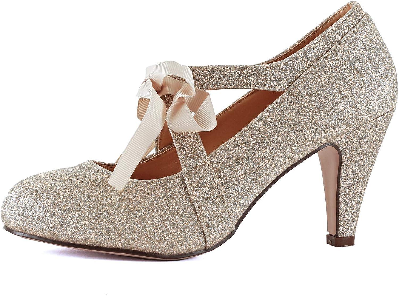 Skyldig Hjärtkvinnor Vintage Mary Jane Jane Jane Pumpar Low Kitten klackar Retro Round Toe skor med AnStrap  fabriksförsäljningar