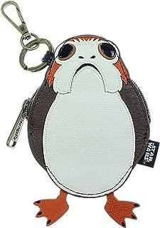 Disney ~ Star Wars The Last Jedi Porg ~ Zipper Coin Bag with Clip