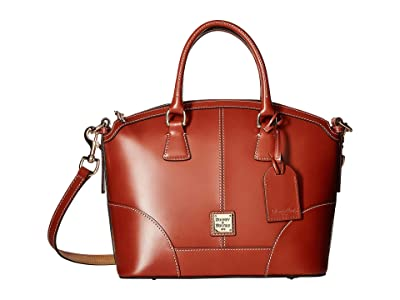 Dooney & Bourke Selleria Domed Satchel (Tan/Tan Trim) Satchel Handbags