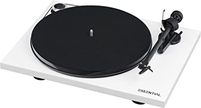 Pro-Ject Essential III Turntable with Built in Phono Preamplifier (White)