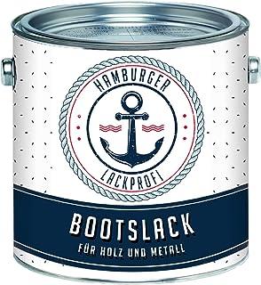 Hamburger Lack-Profi Bootslack GLÄNZEND für Holz und Metall Weiß RAL 9010 Yachtlack Yachtfarbe Bootsfarbe