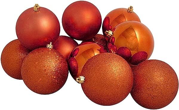 Vickerman 16ct Burnt Orange Shatterproof 4 Finish Christmas Ball Ornaments 3 75mm