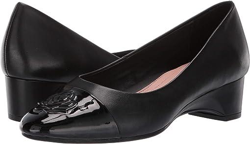 Black/Black Leather/Patent