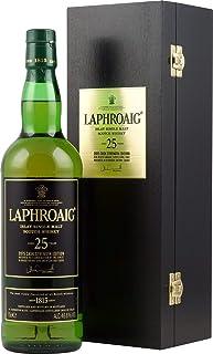 1 Flasche Laphroaig 25 Jahre Islay Single Malt Scotch Whisky 2015 Cask Strengh Edition in Holzkiste a 0,7l 46,8% vol.