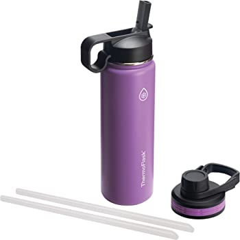 Thermoflask Double Stainless Steel Insulated Water Bottle, 24 oz, Plum