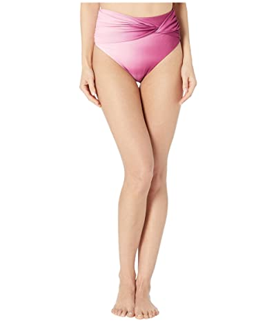 Jonathan Simkhai Ombre Side Twist Bikini Bottoms (Magenta Ombre) Women