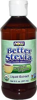 Now Foods BetterStevia Organic Liquid Extract - 8 oz. 4 Pack