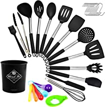 Silicone Cooking Utensil Set, Digcreat Kitchen Tools 33 Pcs Set, Non-stick Heat Resistant Kitchenware, Cookware with Stain...