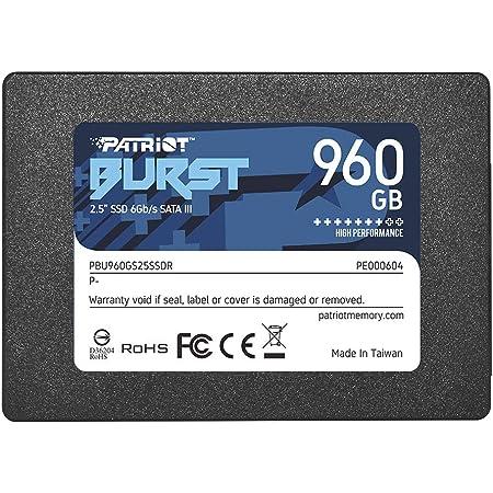 """Patriot Burst SSD 960GB SATA III Internal Solid State Drive 2.5"""" - PBU960GS25SSDR"""