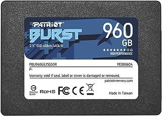 """SSD Unità a Stato Solido SATA 3 6 Gbps 2.5"""" Interno Patriot 960GB BURST"""